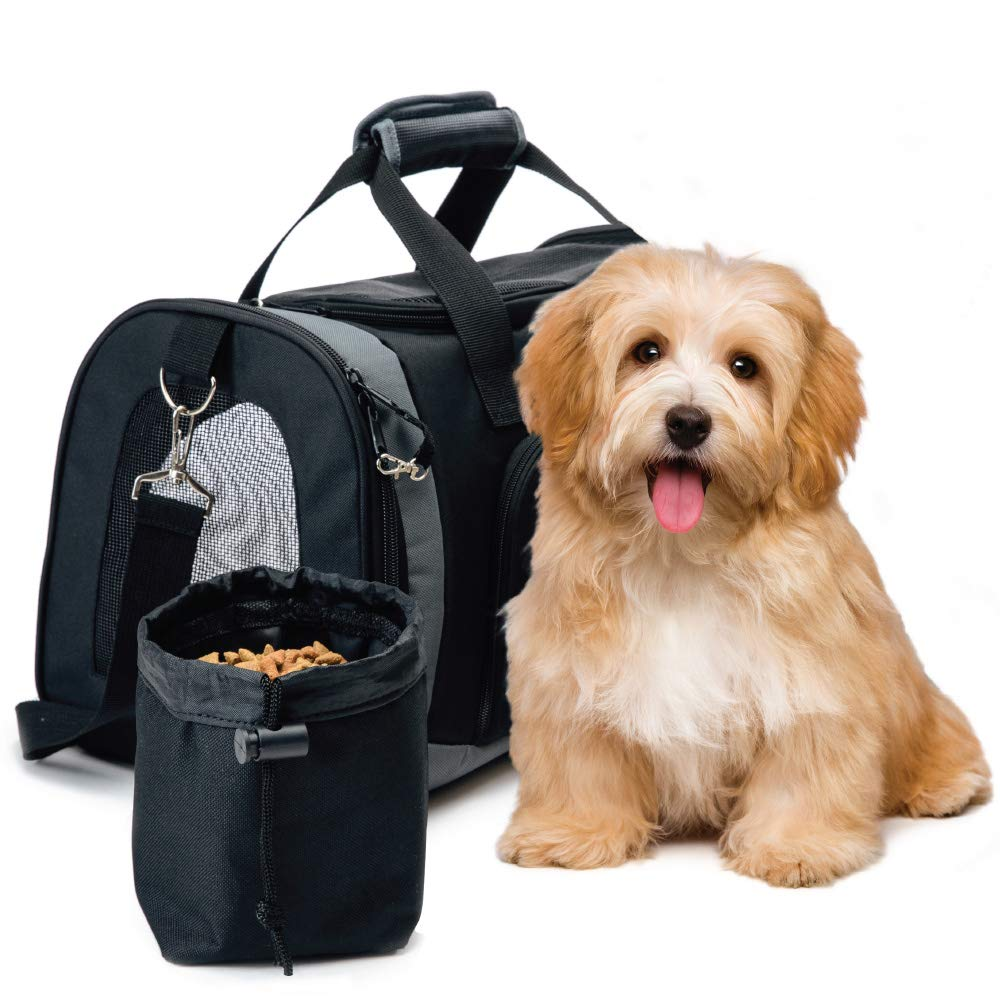Gorilla Grip Original Pet Travel Carrier Bag for Dogs or Cats, Free Bowl, Durable, Locking Safety Zippers, Airline Approved, Up to 15lbs, Sherpa Insert, Dog, Airplane, Train, and Car Travel by Gorilla Grip