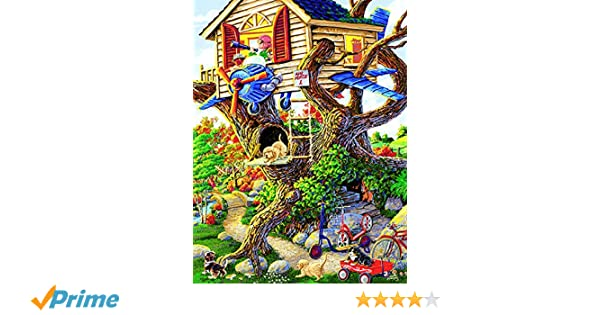 Boys Treehouse 300 pc Jigsaw Puzzle by SunsOut