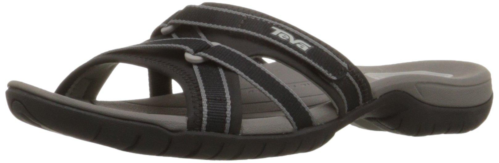 Teva Women's Tirra Slide Sandal,Black,9 M US