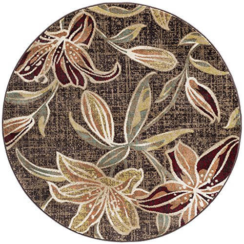 Universal Rugs DCO1108 8RND Lily Area Rug, 8' Round, ()