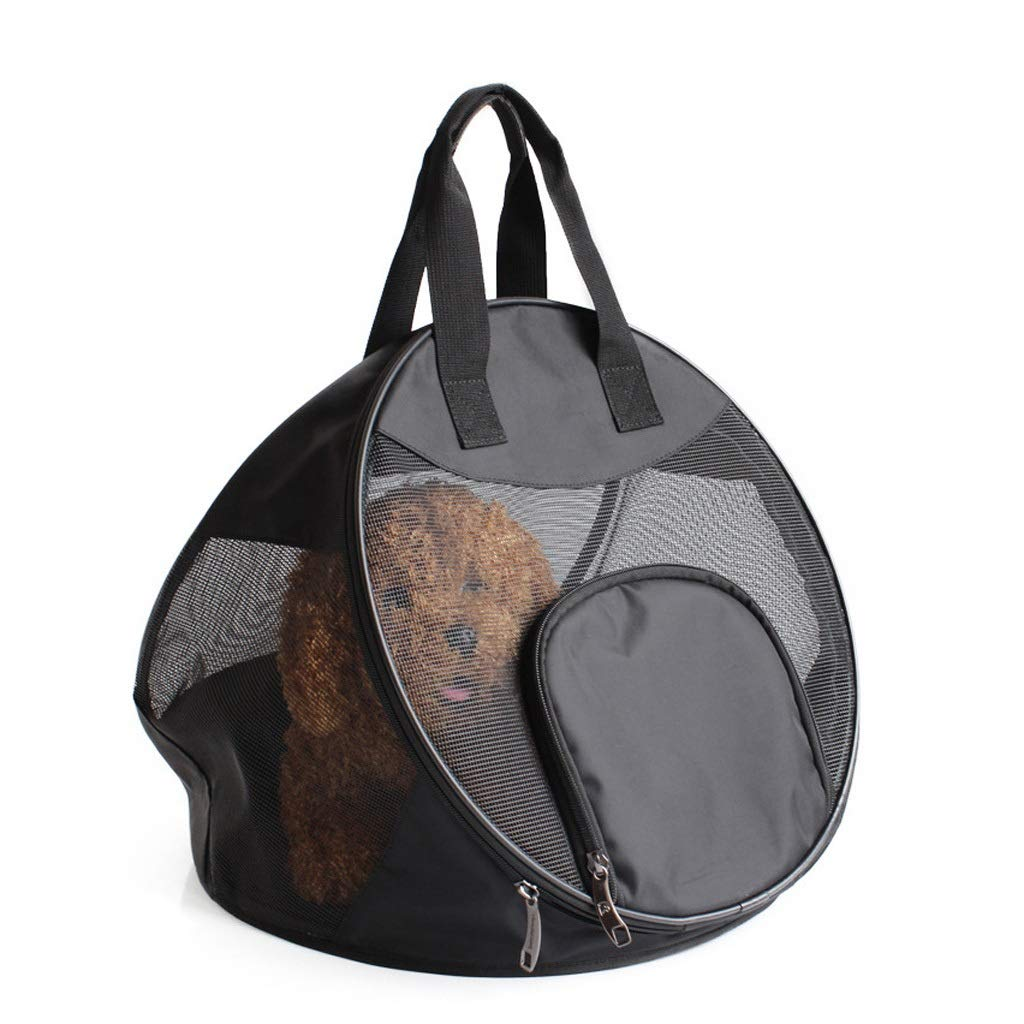 Pet Carrier Dog Cat Outdoor Backpack Comfortable Portable Foldable Travel Breathable Handbag bluee