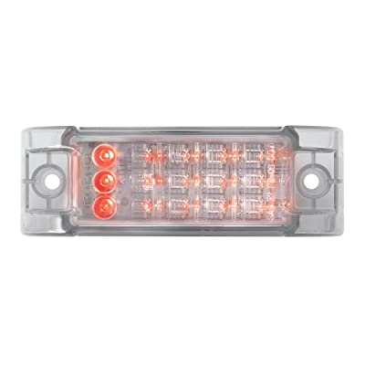 GG Grand General 77667 Red/Clear Rectangular Marker Clearance LED Light: Automotive