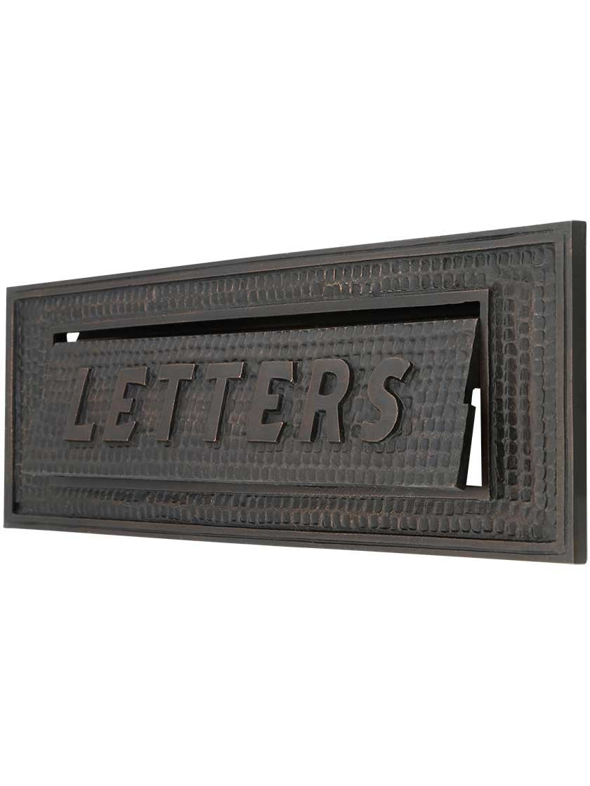 Standard Bungalow Mail Slot With''Letters'' Front Plate by House of Antique Hardware, Inc.