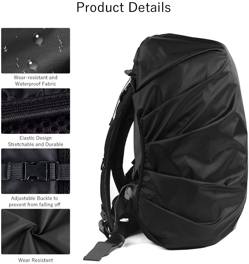 Reflective Rainproof Protector for Anti-dust and Anti-Theft S 18L-25L Black Blue LAMA 2pcs Waterproof Rain Cover for Backpack
