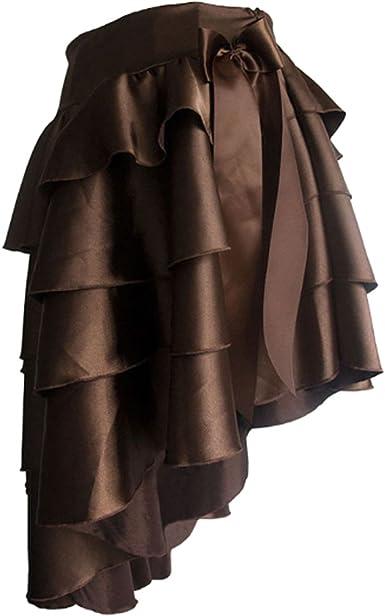 Aiuem Faldas Steampunk para Mujer Faldas Negras y Marrones ...