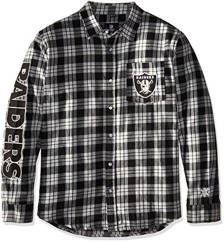 Oakland Raiders Wordmark Basic Flannel Shirt Extra Large