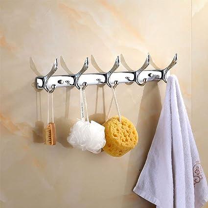 Perchero de Pared Acero Inoxidable Colgador de Pared Percha de Baño Puerta para Baño Cocina Habitación