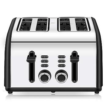 CUSINAID Reheat Defrost Cancel 4-Slice Toaster