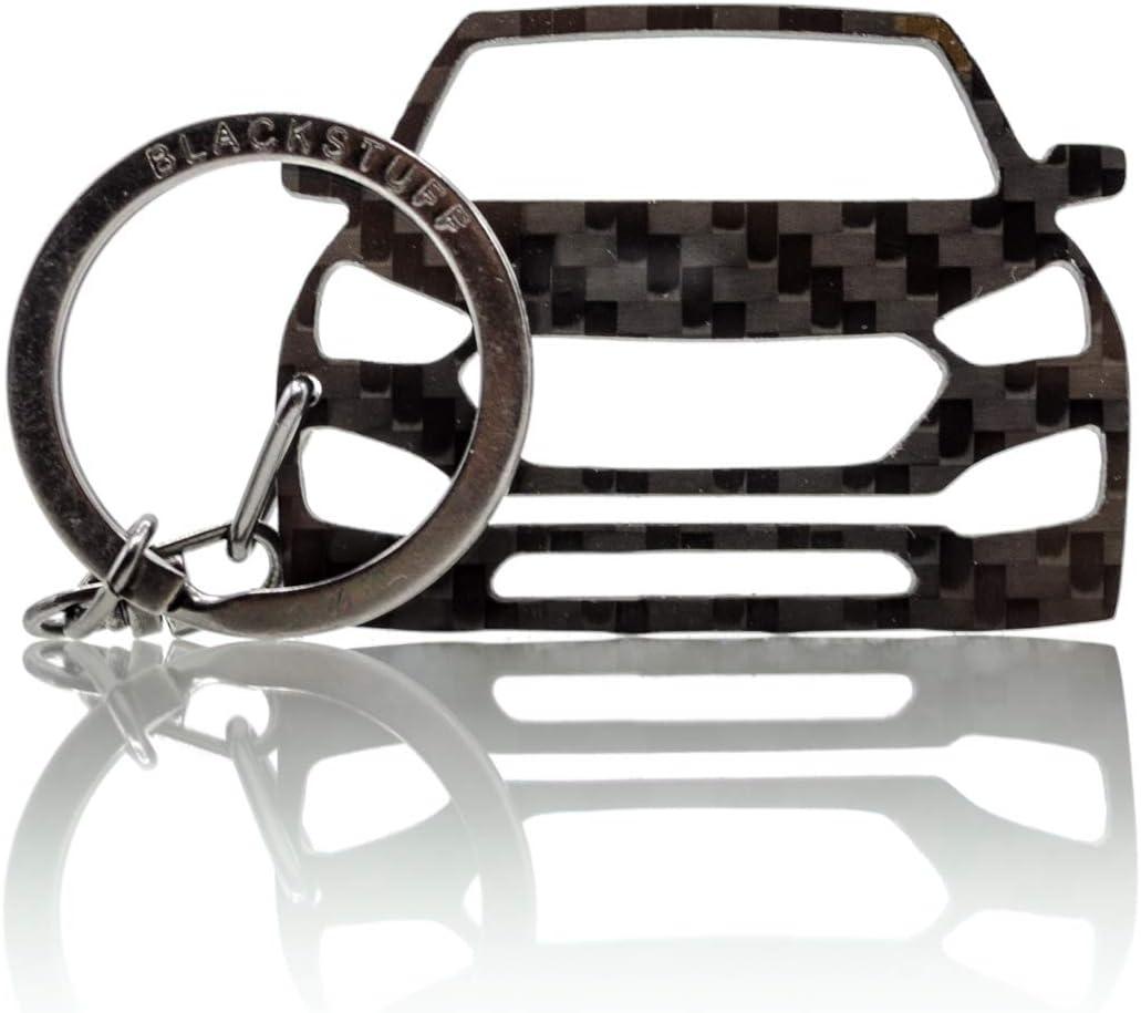 BlackStuff Portachiavi In Fibra Di Carbonio Compatibile Con Hyundai I10 2013-2019 BS-745