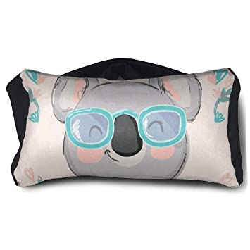 Amazon.com: AHDJGJOT Koala In SunglassesSilk Sleep Eye Mask ...