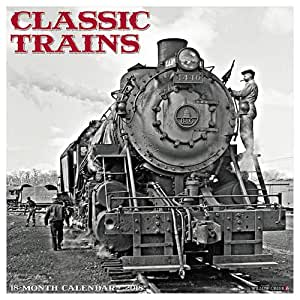 2018 Classic Trains Wall Calendar Railroad {jg} Great Holiday Gift Ideas - for mom, dad, sister, brother, grandparents, gay, lgbtq, grandchildren, grandma.