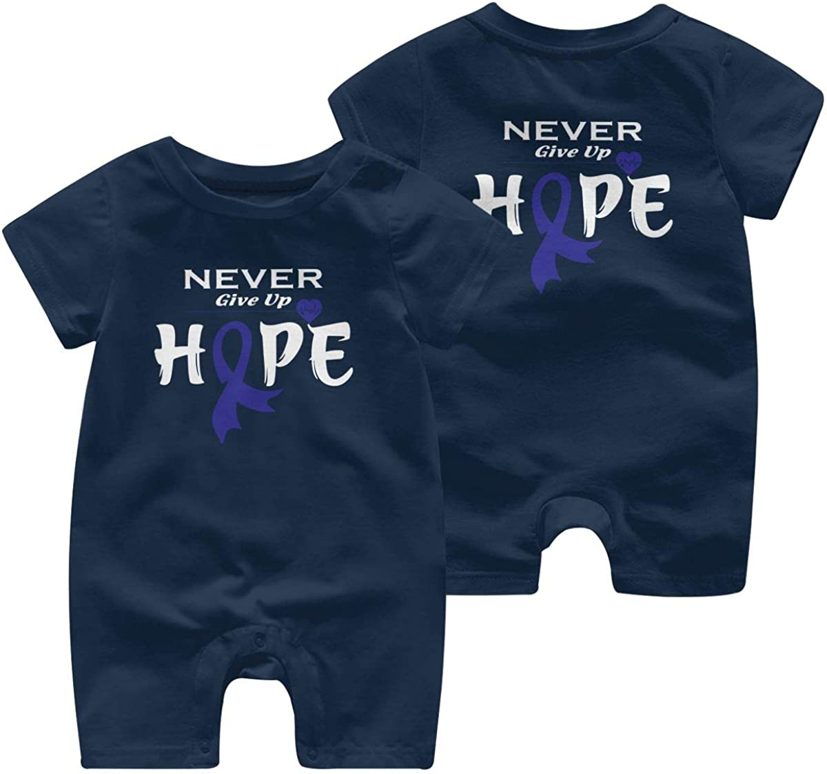 Mri-le1 Newborn Baby Bodysuits Colon Cancer Awareness-1 Infant Short Sleeve Romper Jumpsuit