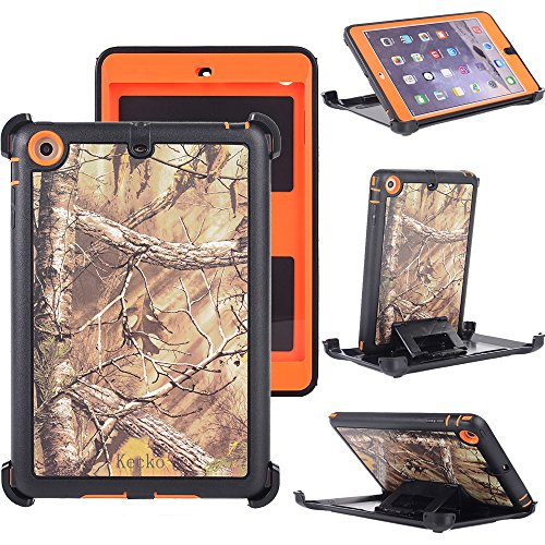 - Kecko3-layer Heavy Duty Defender Military Grade Natural Tree Camo Impact Resistant Tough TPU Full Body Protective Built-in Screen Protector Camouflage Case Skin w/ Kickstand for ipad mini 1/2/3