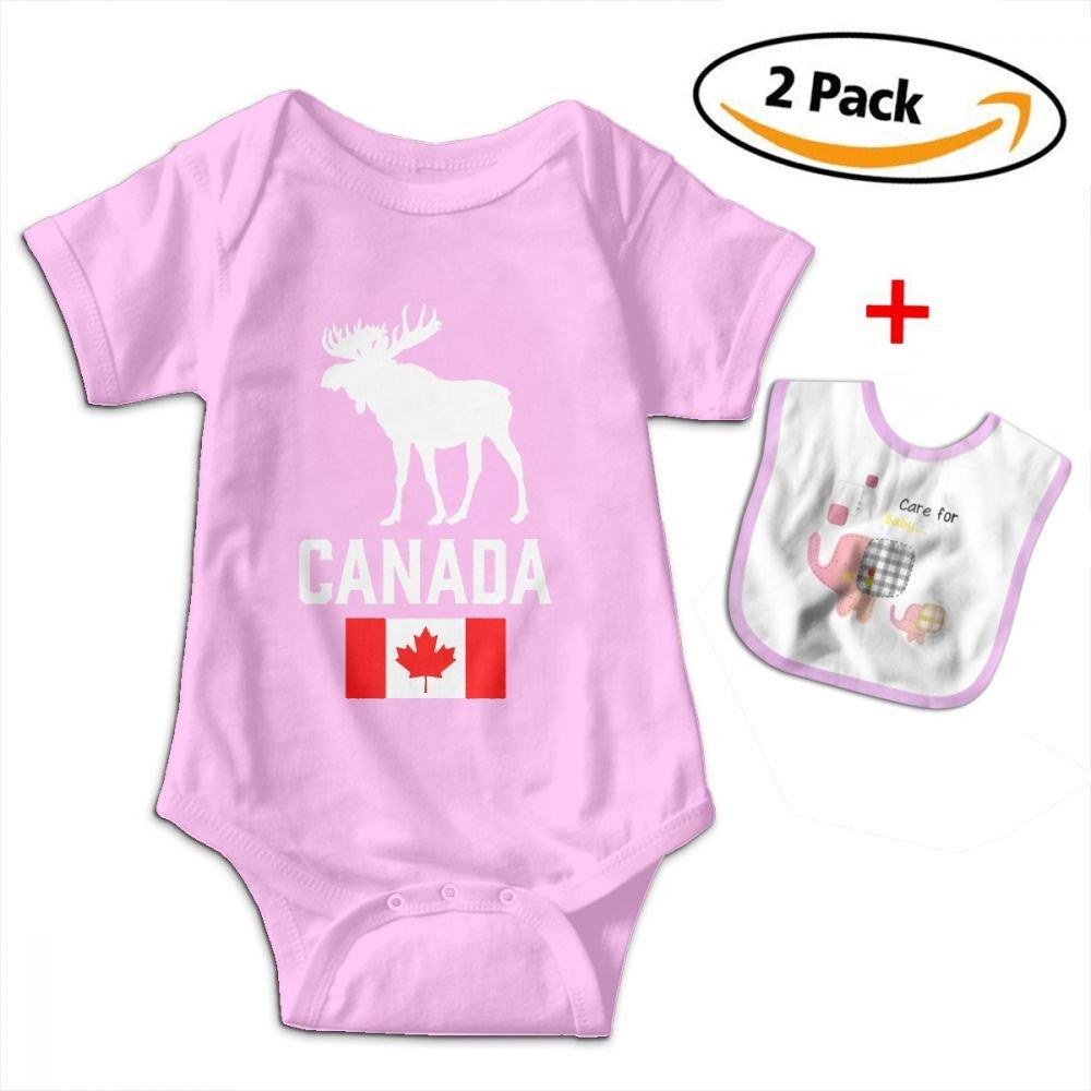 Canadian Moose Baby Bodysuits Funny Short Sleeve NICHOLE WEBERA