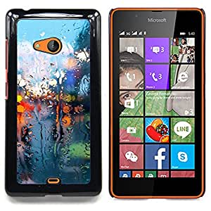 - Wet Glass Lights/ Hard Snap On Cell Phone Case Cover - Cao - For Microsoft Nokia Lumia 540 N540