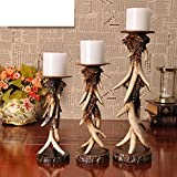 European antler candle holder iron tray holder Romantic table decorations ornaments