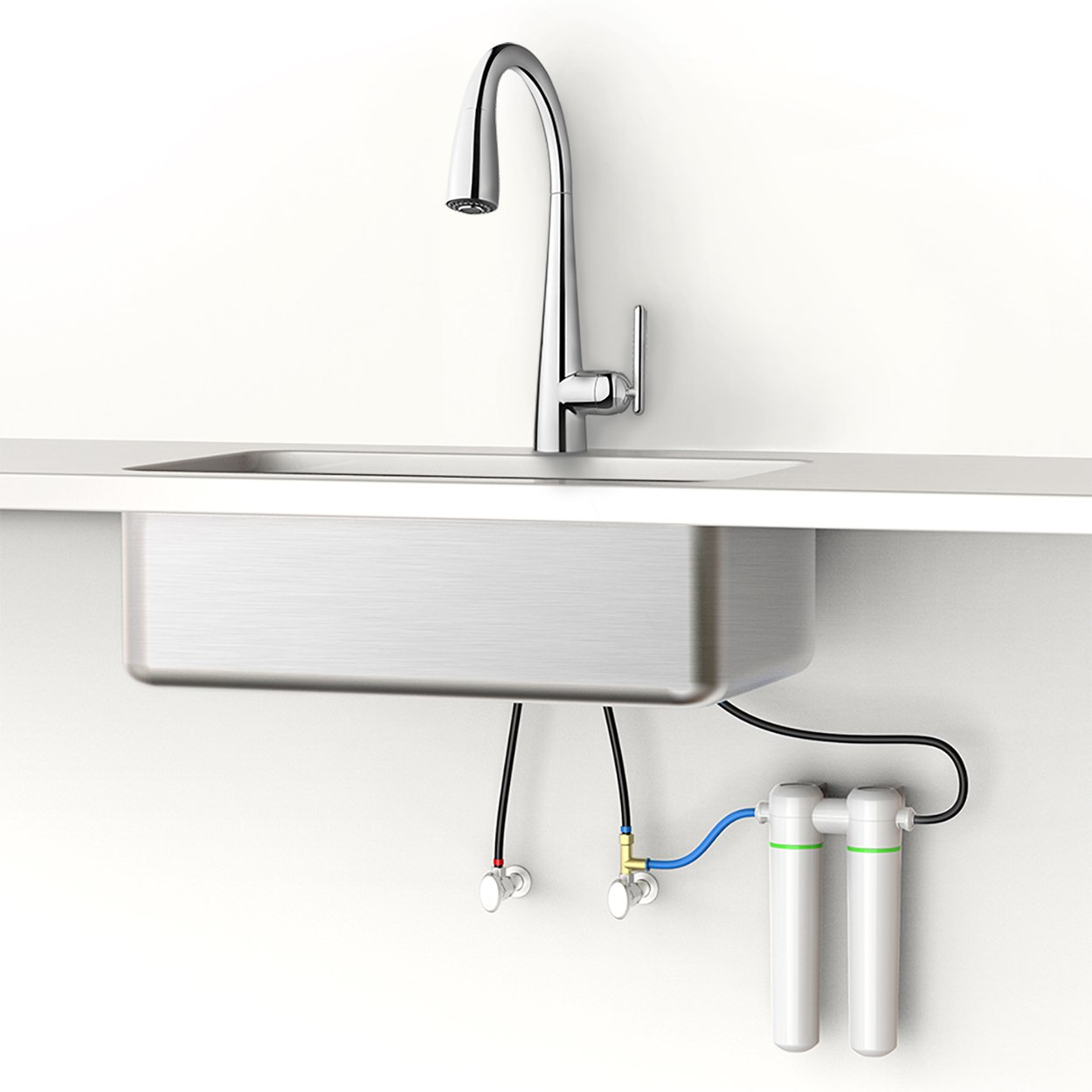 Pfister GT529-FLC Lita Xtract All-In-One Pull Down Kitchen Faucet ...