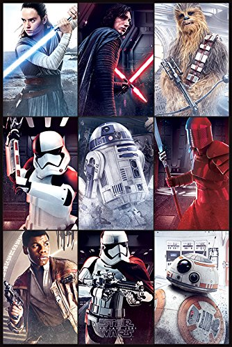 Star Wars: Episode VIII - The Last Jedi - Movie Poster / Print Character