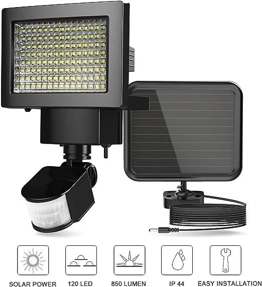 ERAY Luz Solar Exterior, Foco LED Solar con Sensor de Movimiento ...