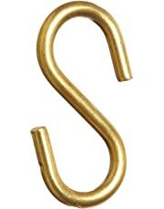 "Brady 23305 1-3/4"" Size Solid Brass""S"" Hook (Pack of 100)"