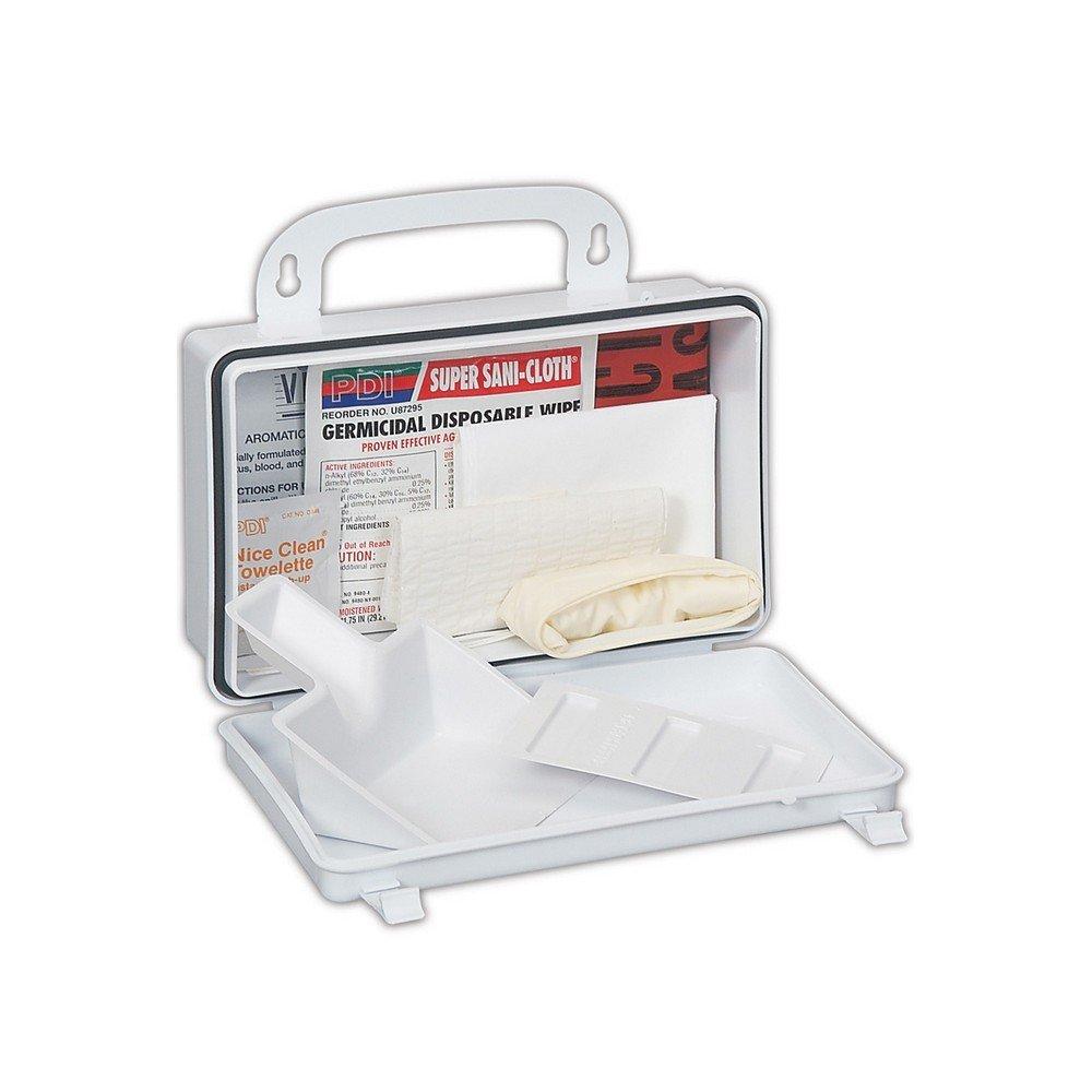 Honeywell 019748-0033L North Bloodborne Pathogen Response Kit, Standard, White/Blue