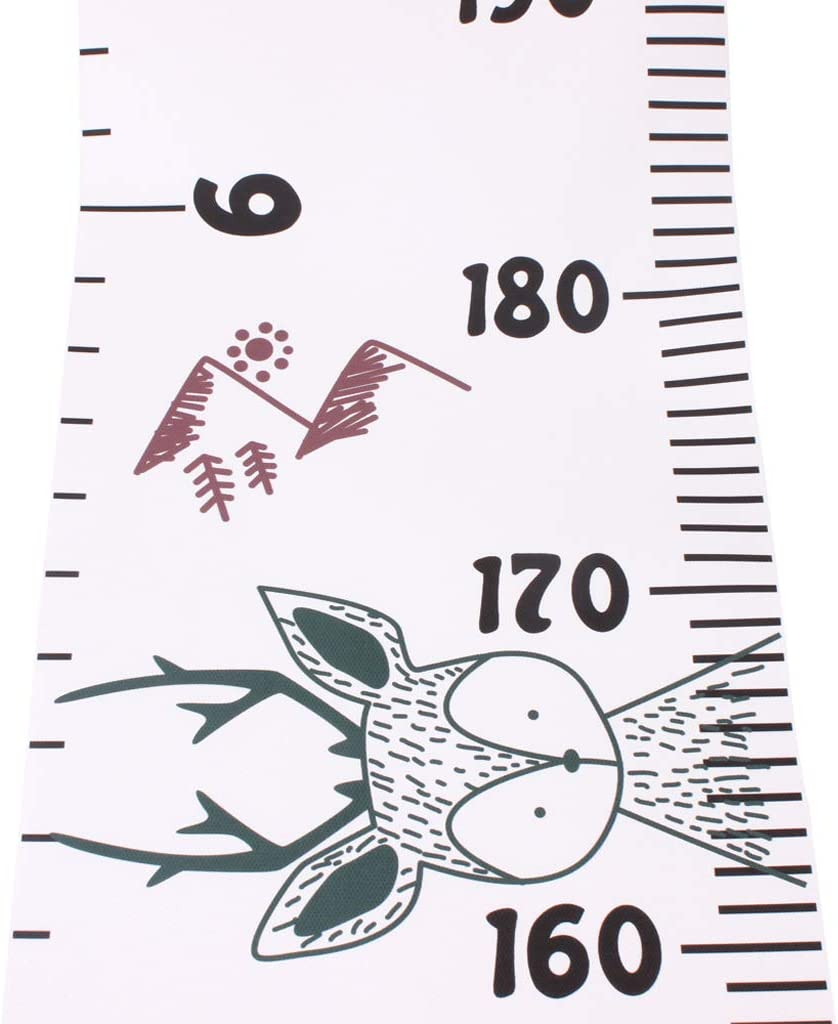 Canvas Wooden Frame Hanging Height Chart,Baby Boys Girls Removable Height Measure Ruler Nursey Wall Decor Fanct Kids Growth Chart