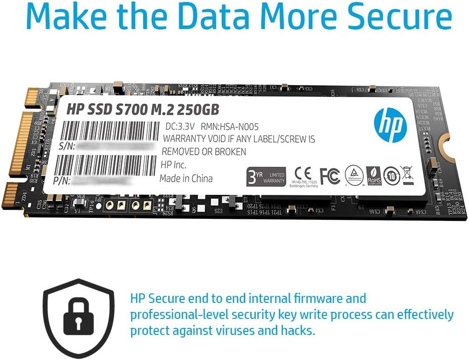 Hewlett Packard 2LU79AA#ABB - Disco Duro Interno SSD de 250 GB ...