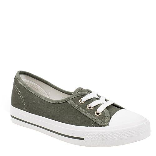 Sneakers marroni per donna Ideal shoes VQs9Kgnc