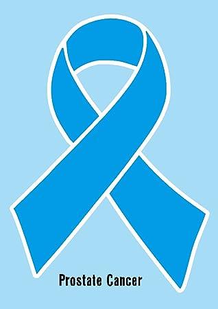Amazon Prostate Cancer Ribbon Light Blue Printed Vinyl Decal