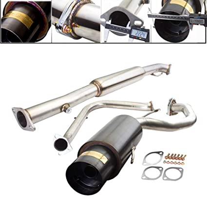 Amazon.com: Fit 1995-1999 Mitsubishi Eclipse/Eagle Talon (2.0L Non-Turbo) Engine 2.25 Inch Stainless Steel Catback Exhaust System 4.5 Inch Gun Metal Muffler ...