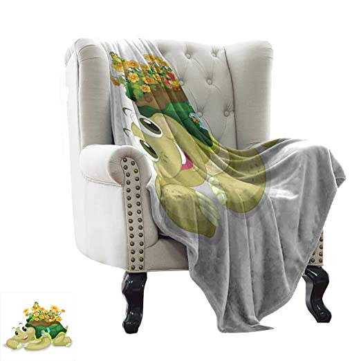 Amazon.com: LsWOW Muslin Blanket Reptile,Funny Floral Turtle ...