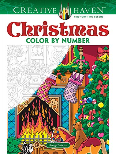 Color By Number Adults (Creative Haven Christmas Color by Number (Creative Haven Coloring)