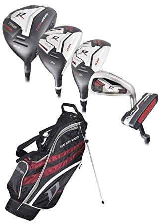 Amazon.com: Wilson Golf- Set completo de golf, color rojo ...