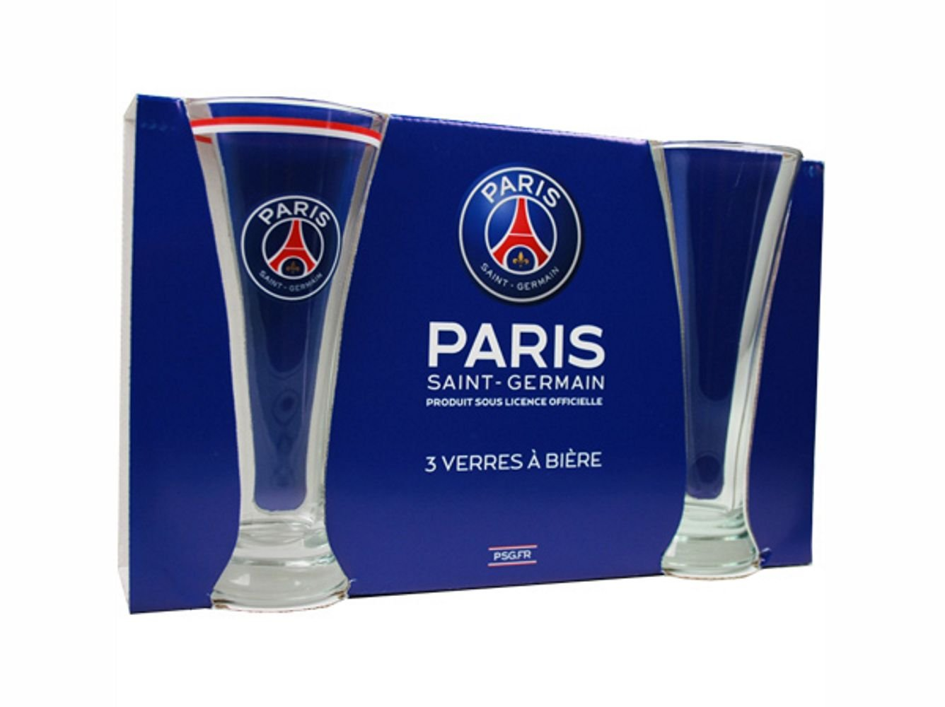verre a biere psg. Black Bedroom Furniture Sets. Home Design Ideas