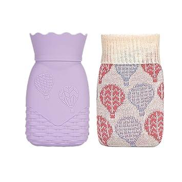 Xboun - Bolsa de agua caliente de silicona para microondas, con ...