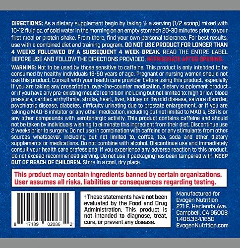 Evogen Lipocide IR | Instant Release Fat Burning Powder | 60 Servings | Cali Time Tea