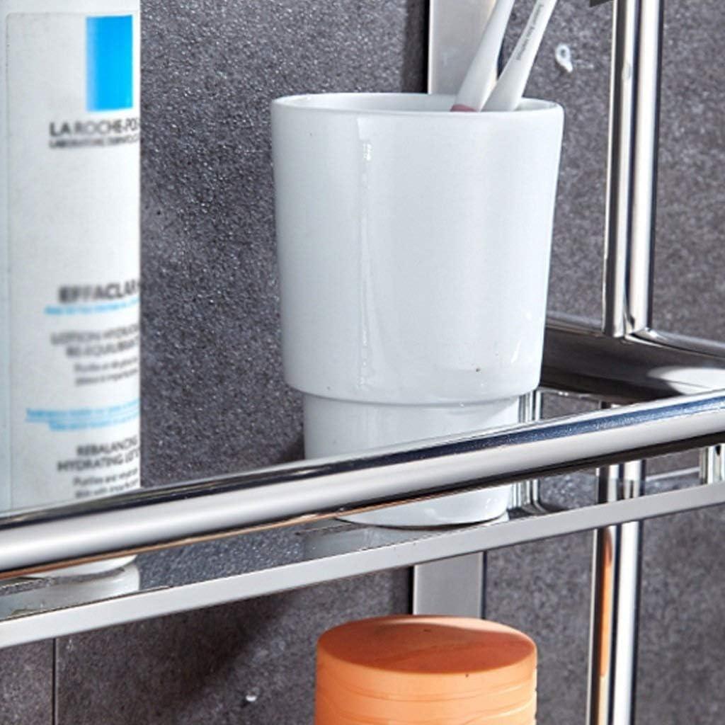 Size : 50cm SONGDP Edelstahlregal K/üche Bad Wandregal rostet Nicht eine Vielzahl von Gr/ö/ßen Doppelschicht kann Umweltschutzmaterialien w/ählen