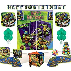 Teenage Mutant Ninja Turtles Party Supply and Balloon Bundle