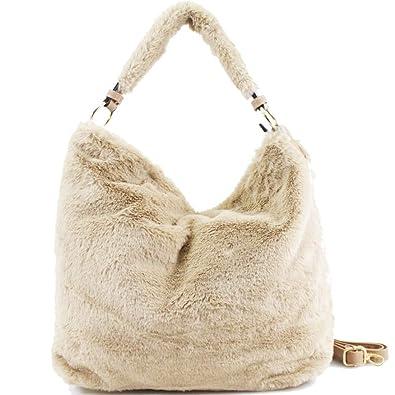 16b1dc3fe580 New High Quality 2018 Women s Shoulder Handbag Fashion Top Handle Designer Faux  Fur Bags for Ladies