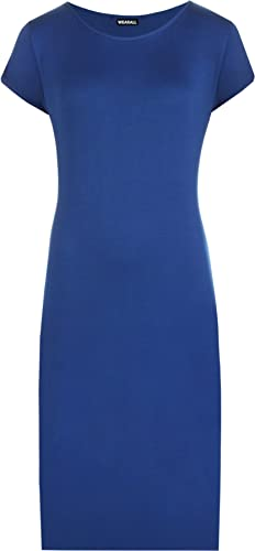 WearAll Women's Plus Size Plain Midi Dress