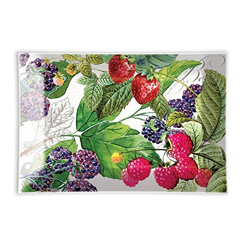 - Michel Design Works Rectangular Glass Soap Dish, Berry Patch