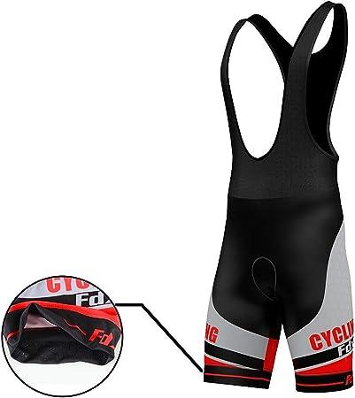 FDX Cuissard de cyclisme en gel chamois pour homme /Édition limit/ée