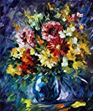 100% Hand Painted Oil Paintings Modern Canvas Art Abstract Oil Painting Flower Home Wall Decor (24X29 Inch, Canvas 4)