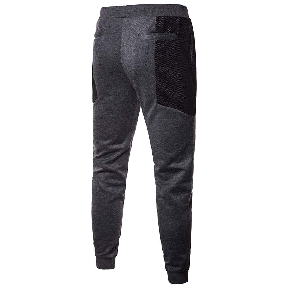 Winwinus Mens Drawstring Oversize Mesh Straps Chino Pants Trousers