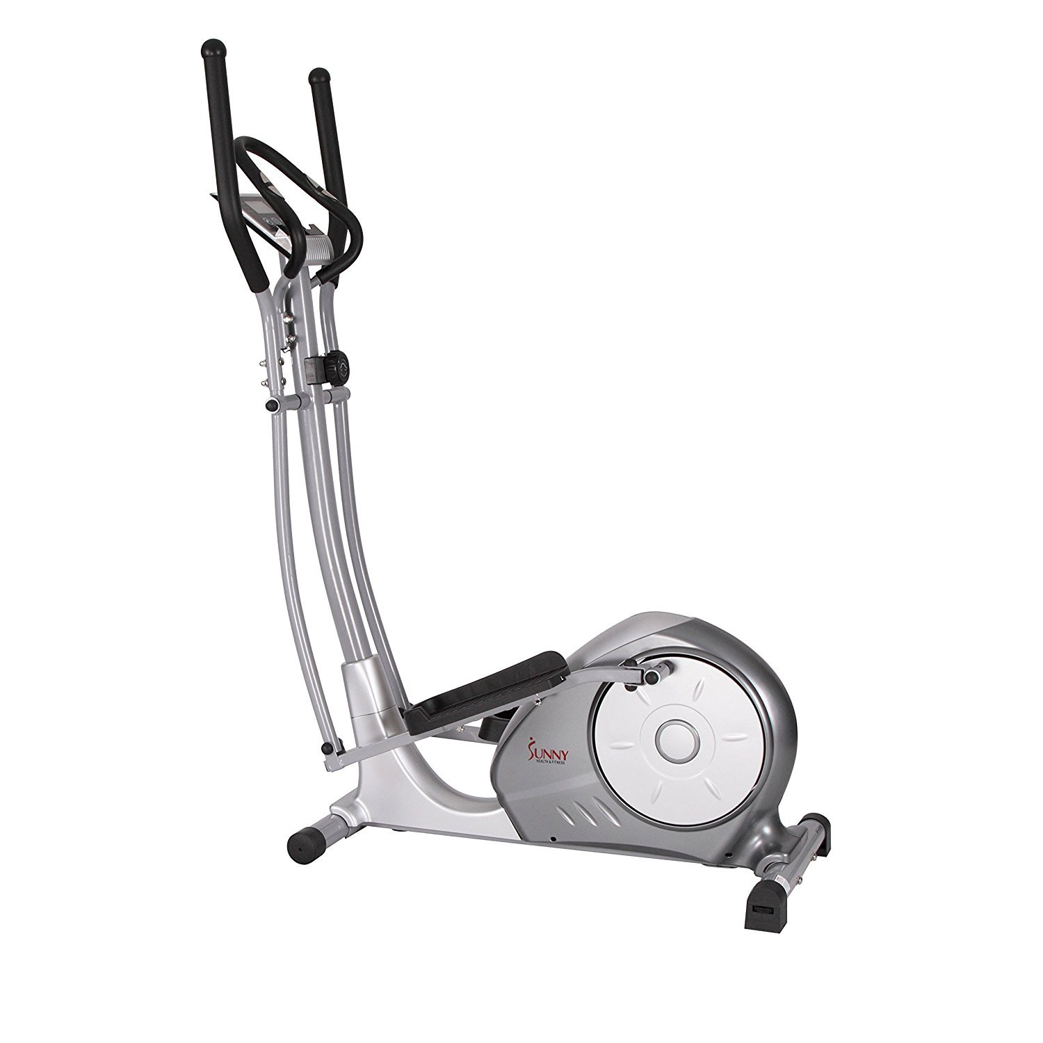Sunny Health & Fitness SF-E3608 Magnetic Elliptical Bike Elliptical Machine w/Tablet Holder, LCD Monitor and Heart Rate Monitoring