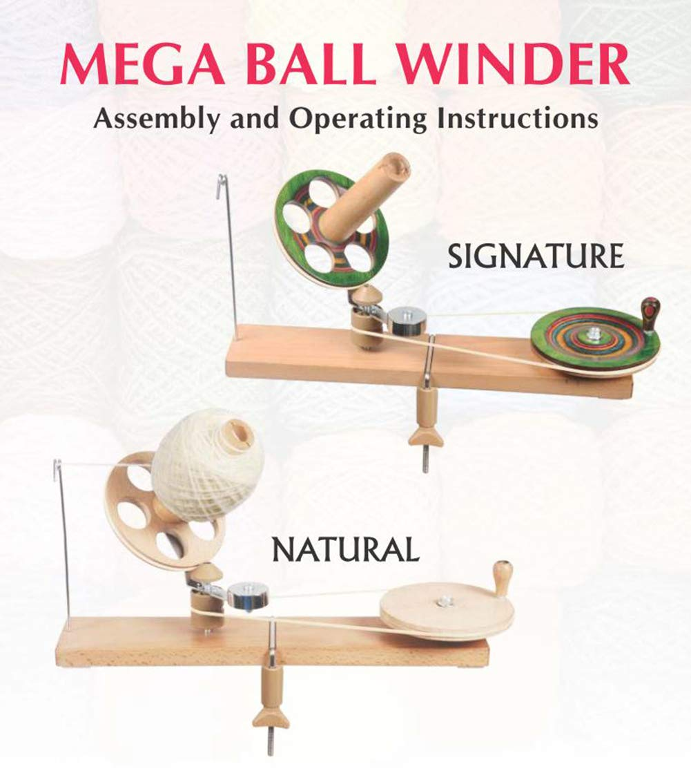 KnitPro Natural Birch Wood Mega Ballwinder (Natural Mega Ballwinder 35005) by Lotus Yarns (Image #2)