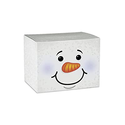 Fun Express - Snowman Gift Box for Christmas - Party Supplies - Containers & Boxes - Paper Boxes - Christmas - 12 Pieces: Toys & Games
