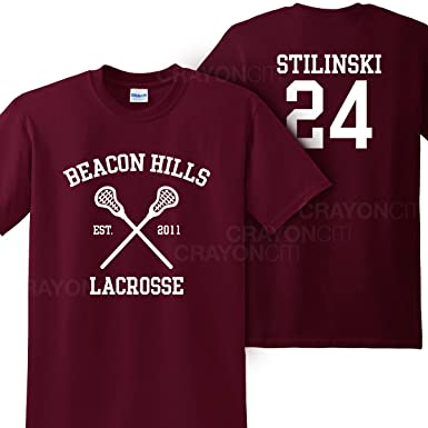 Mars NY Women s Unisex Teen Wolf Beacon Hills Lacrosse Stilinski 24 Tshirt  (Small) 66e721c31