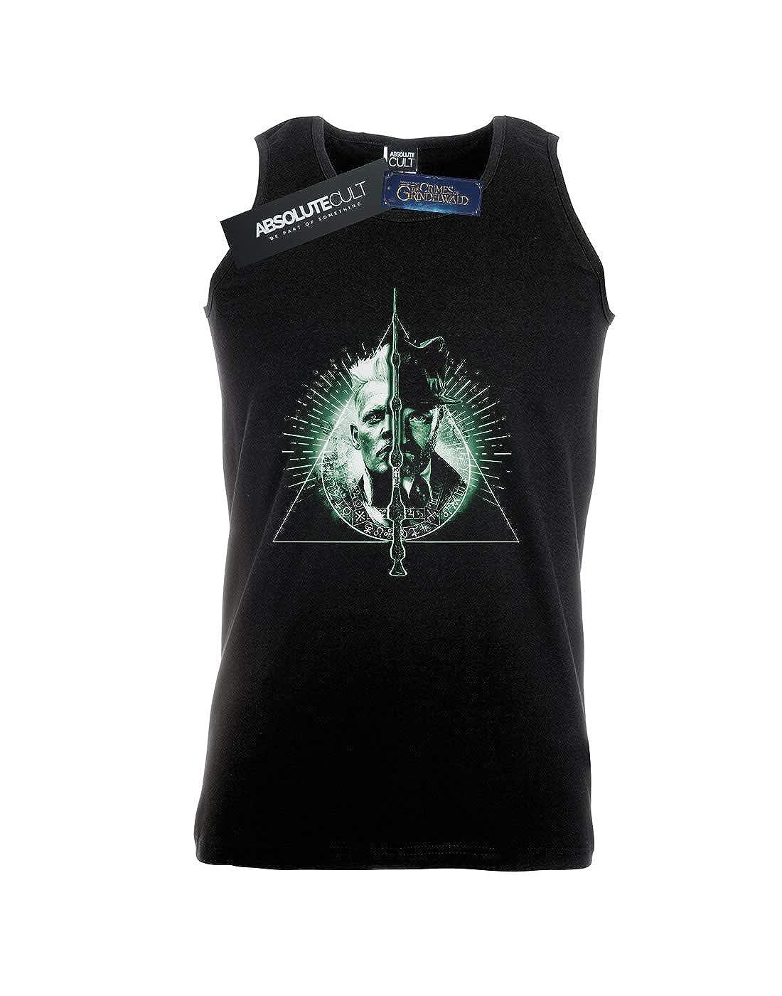 Absolute Cult Fantastic Beasts 2 Mens Dumbledore Vs Grindelwald Tank Top