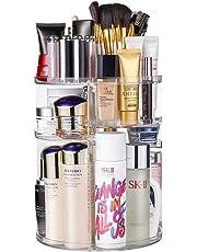 JSBelle Organizador de Maquillaje, 360 Grados de rotación Organizador de Maquillaje Caja de Almacenamiento de cosméticos multifunción Ajustable